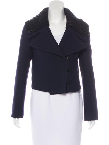 Prada Wool Cropped Jacket None