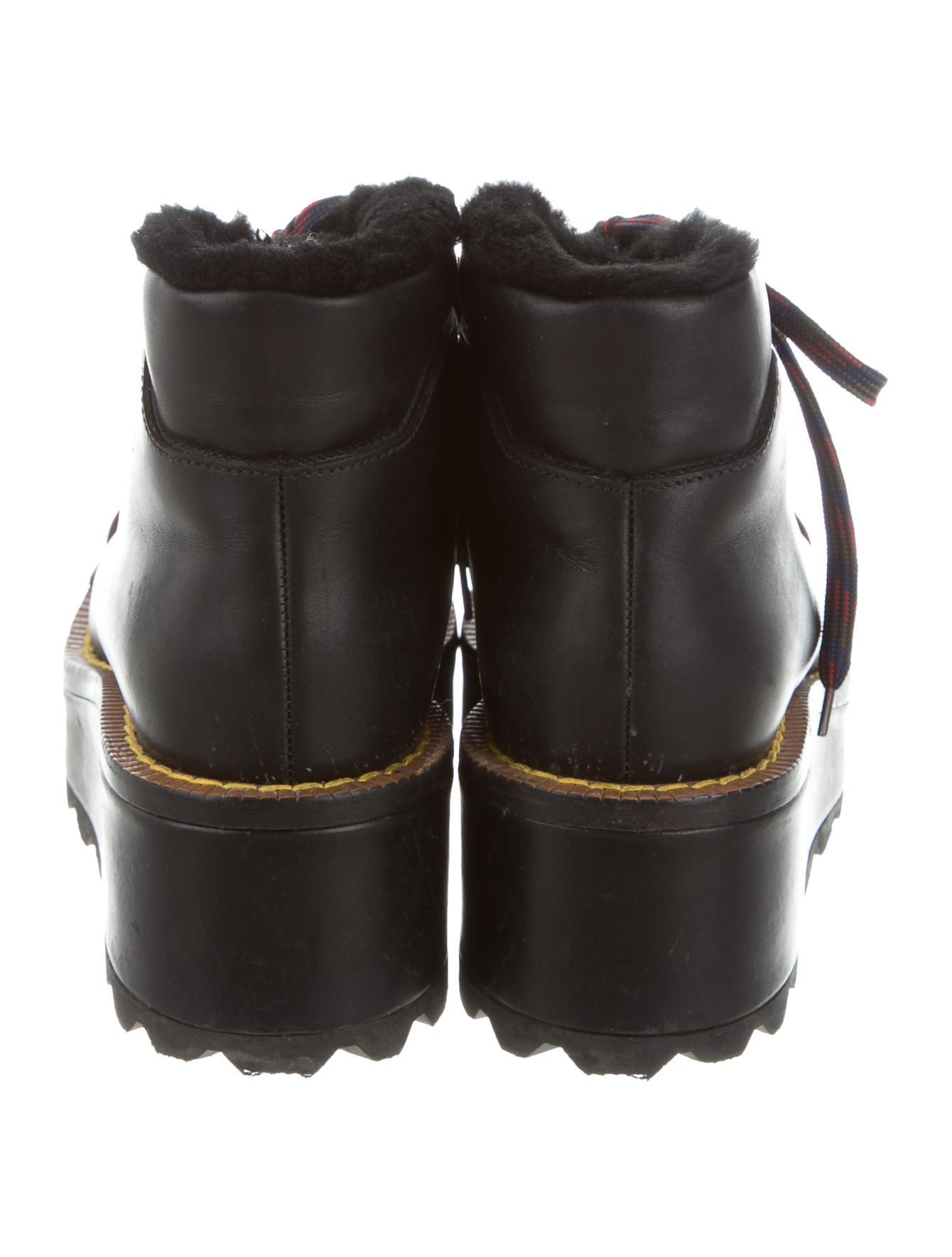 prada 2016 cap toe wedge boots shoes pra149887 the