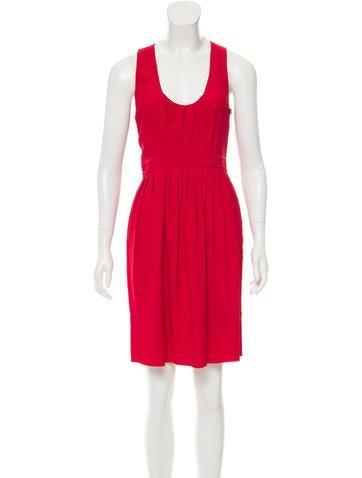 Prada Sleeveless Knee-Length Dress None