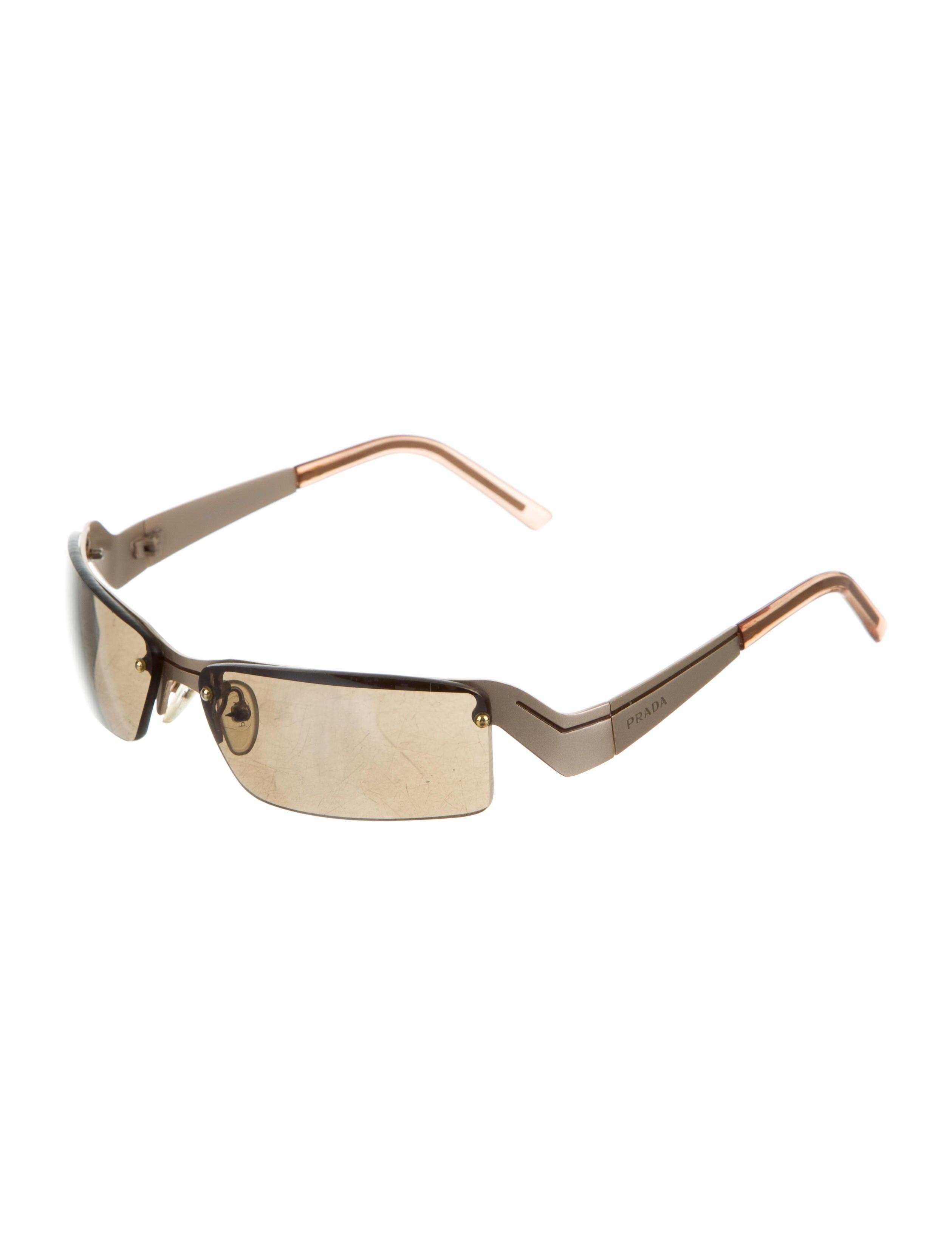 a6744f4deb88 Prada Rimless Tinted Sunglasses - Accessories - PRA150064