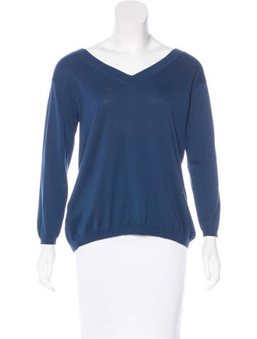 Prada Knit Long Sleeve Top None