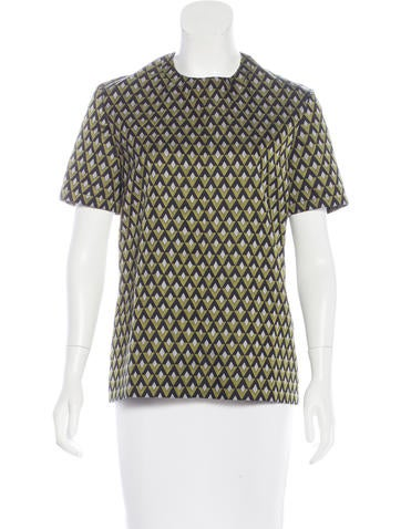 Prada Wool & Silk-Blend Top None