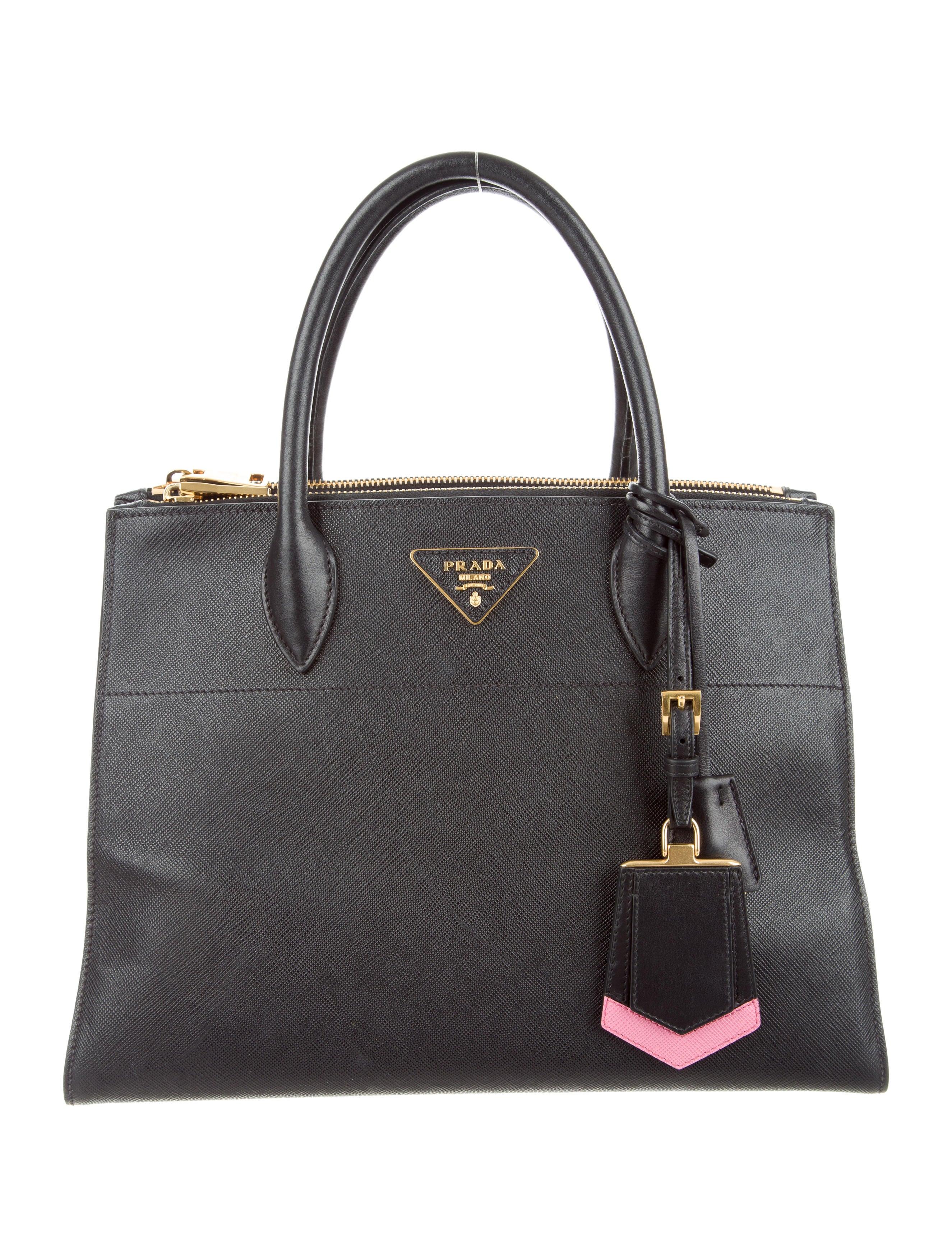 e9d601ba10ff Prada Medium Saffiano Greca Paradigm Tote Bags | Stanford Center for ...