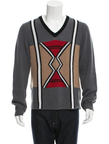 Prada Cashmere Patterned Knit Sweater None