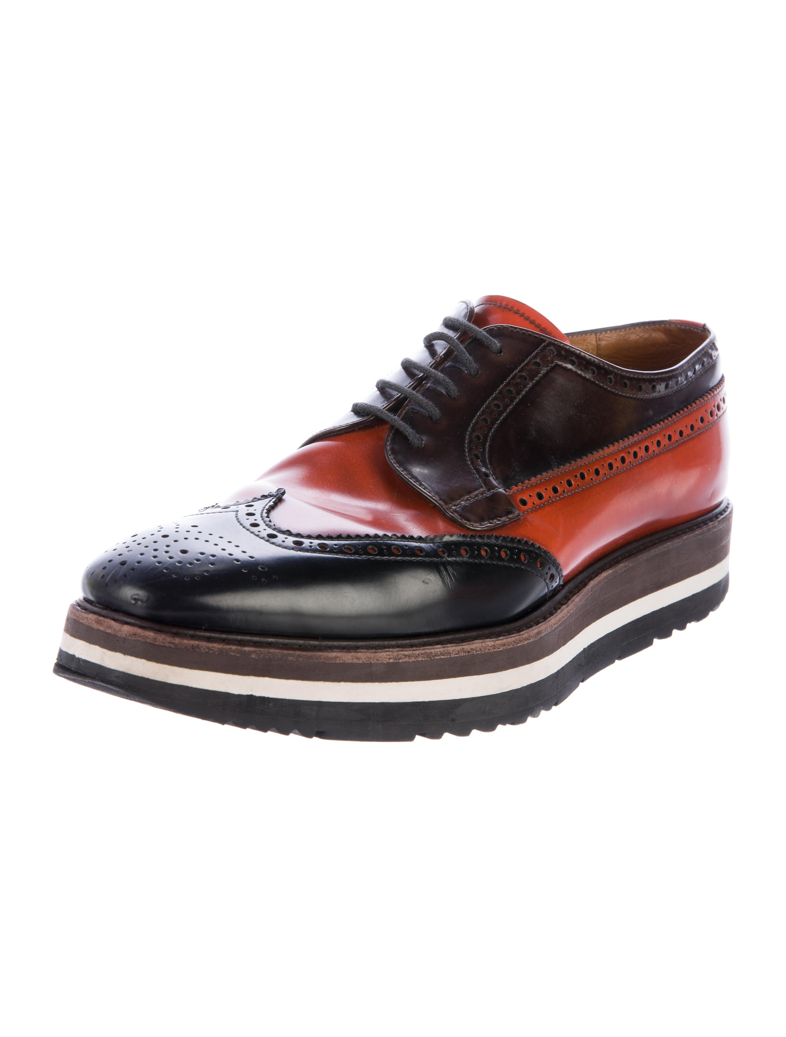 prada leather platform brogues mens shoes pra151186
