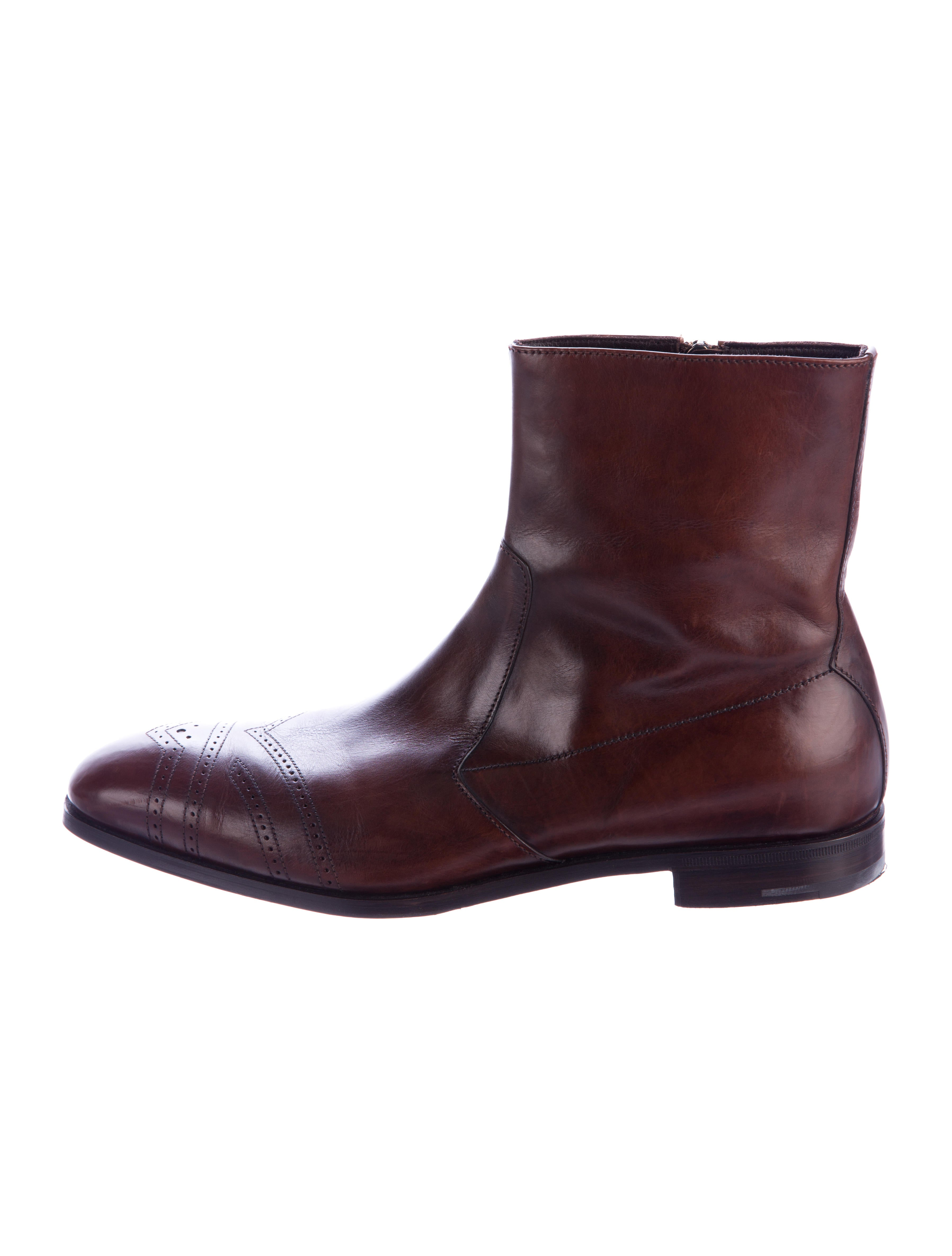 prada leather ankle boots shoes pra151194 the realreal