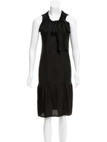 Prada Silk Midi Dress None