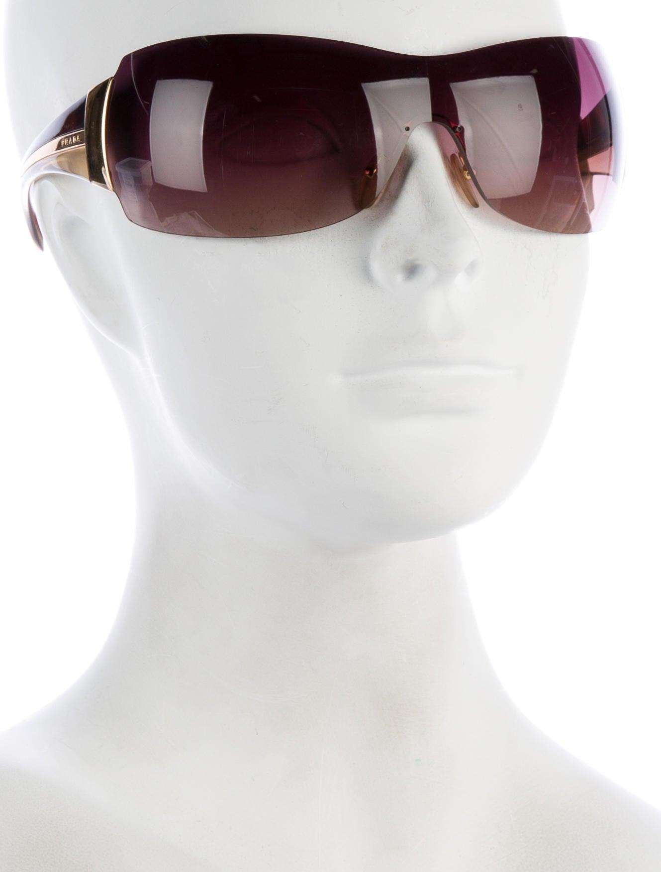 2d29b07bc636 Prada Shield Sunglasses Coffee