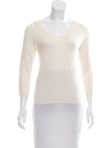 Prada Cashmere Semi-Sheer Sweater None