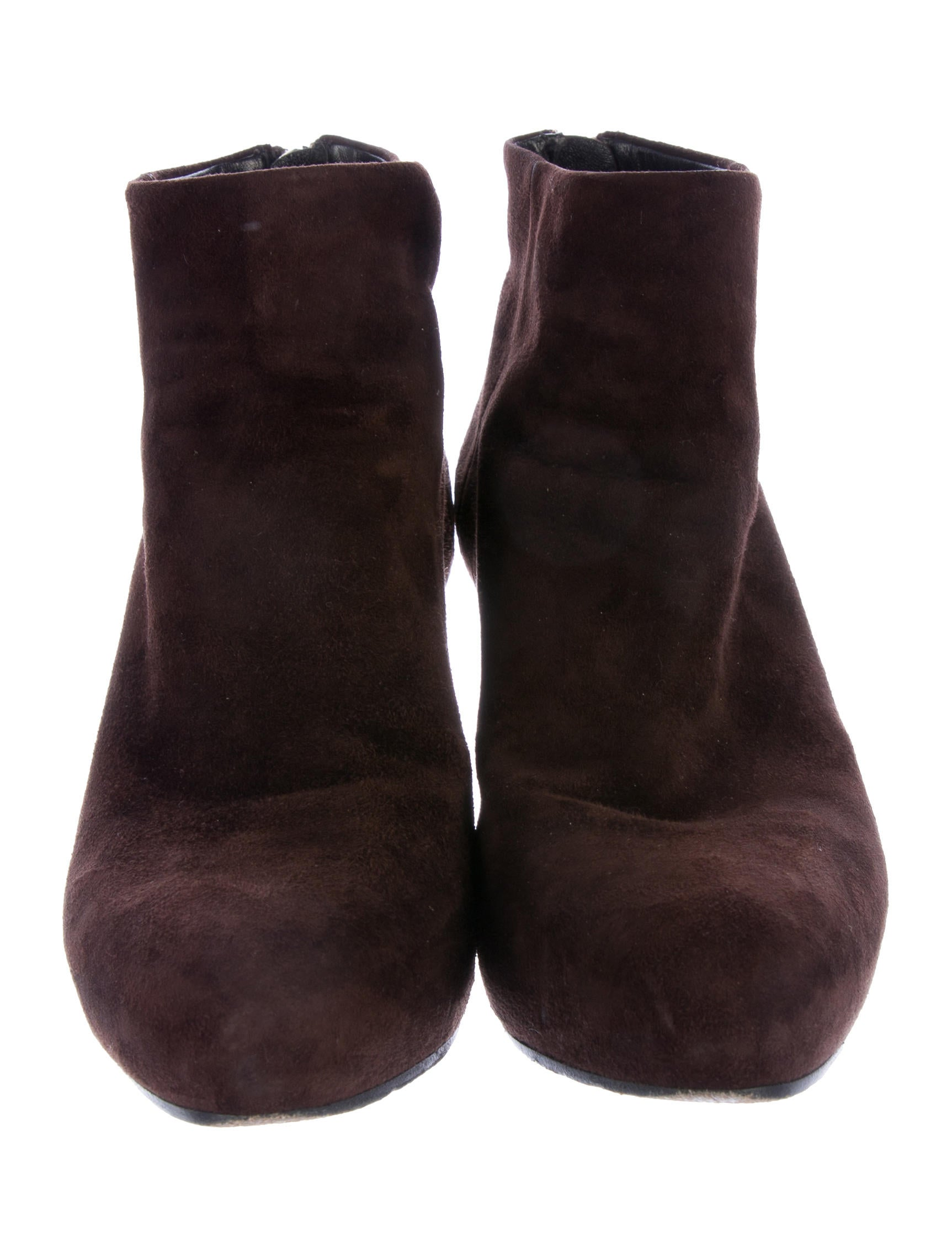 prada suede semi pointed toe ankle boots shoes