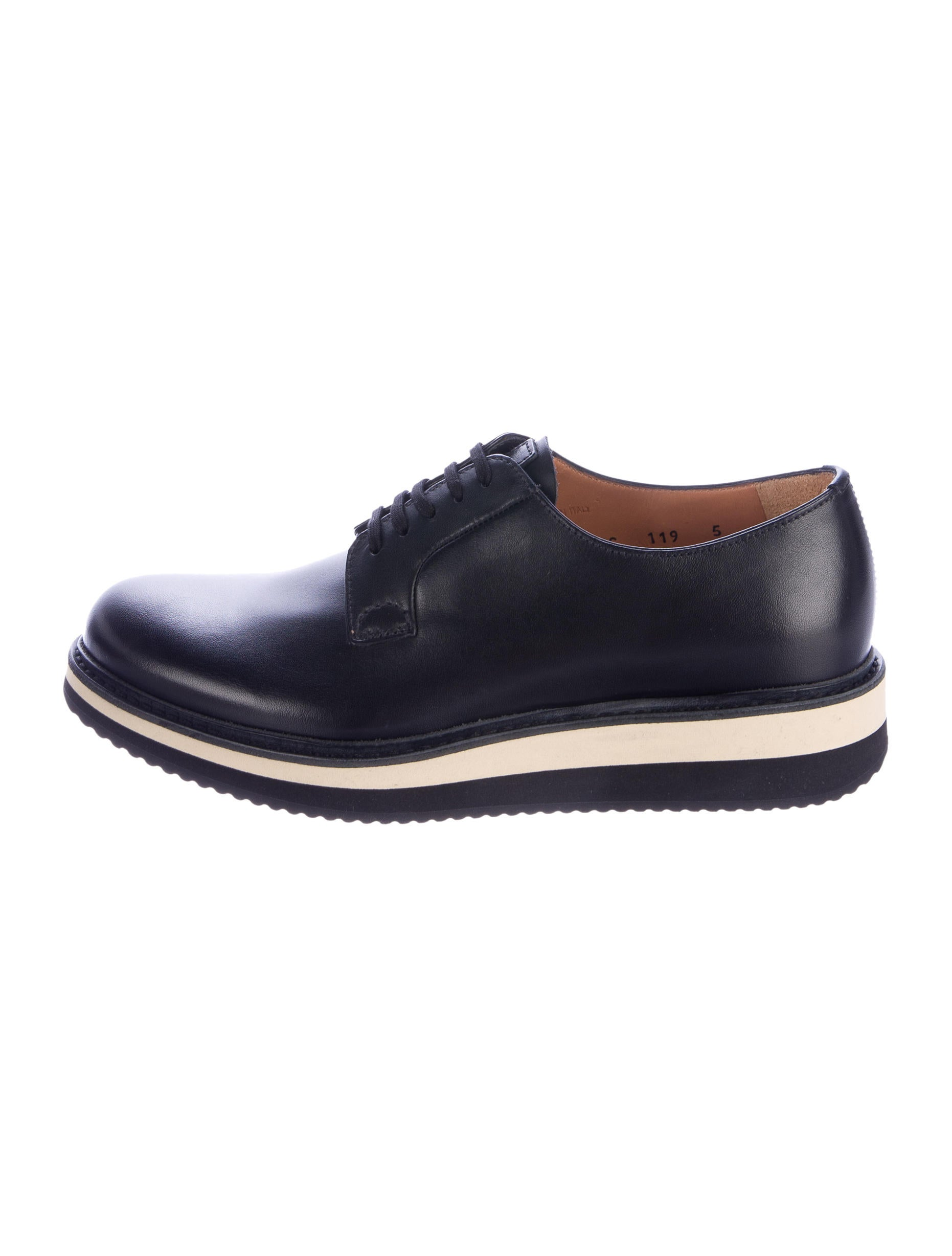 prada platform derby shoes w tags shoes pra152664