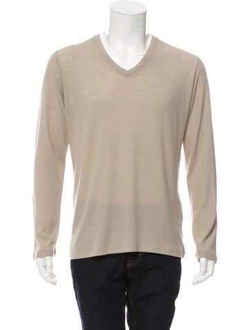 Prada Wool V-Neck Sweater None