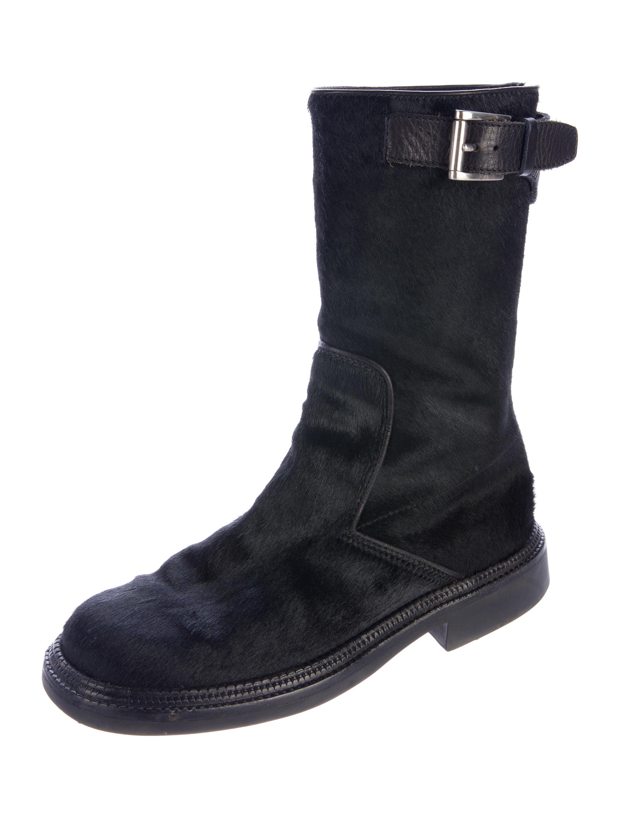 Prada Sport Ponyhair Mid-Calf Boots pay with visa cheap price k4tG7