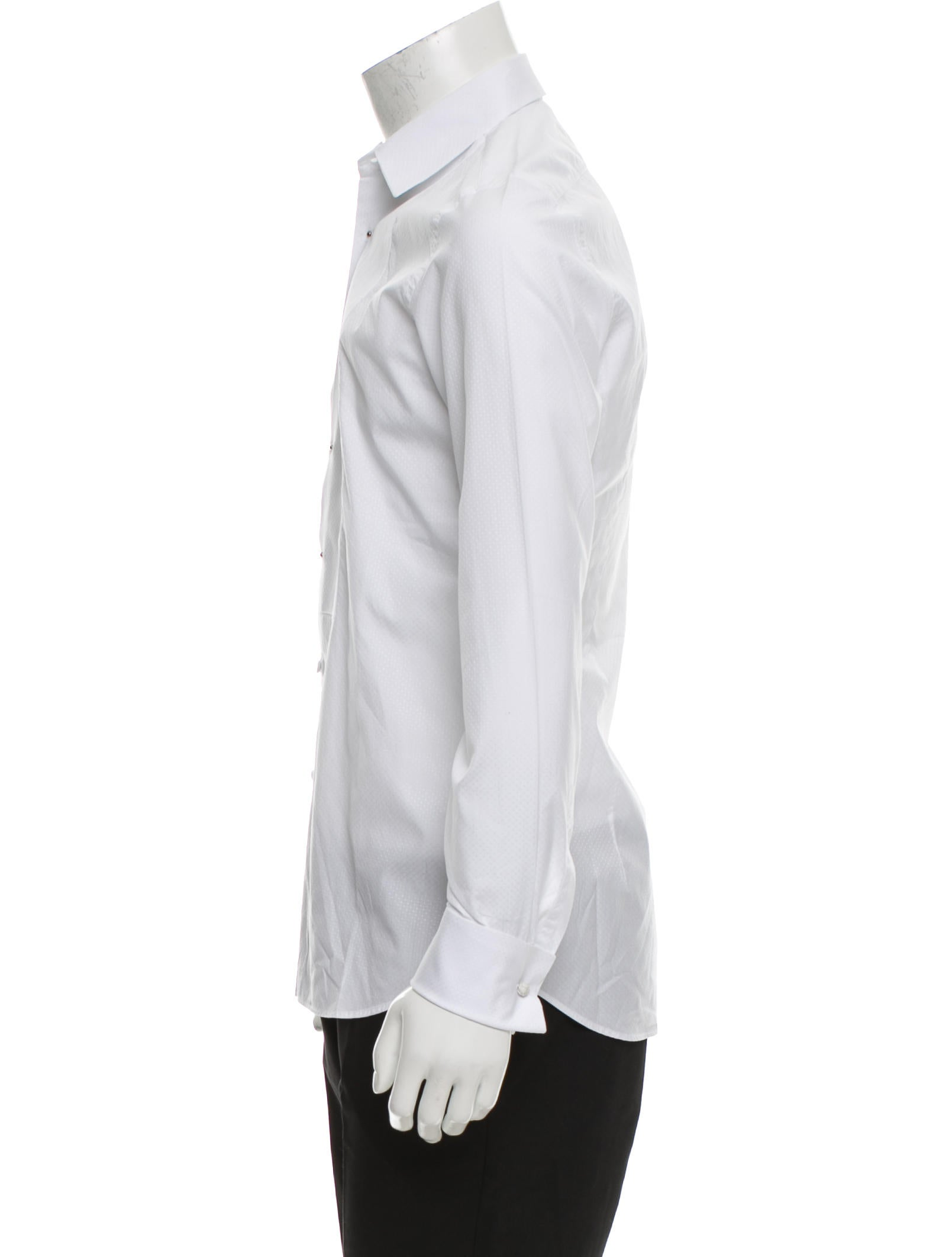 Prada tuxedo french cuff shirt clothing pra153980 for Tuxedo shirt french cuff