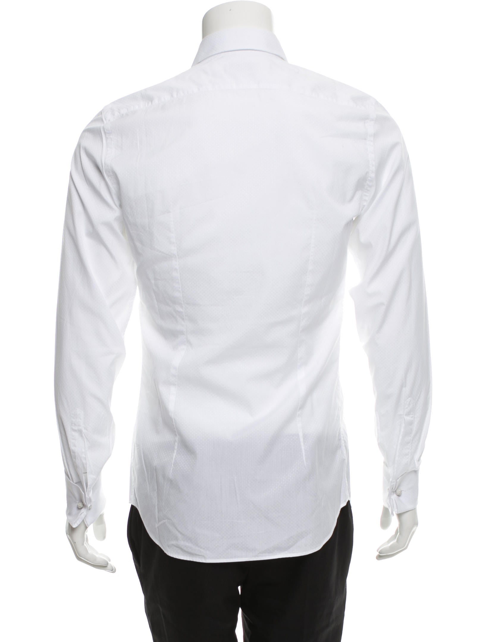 prada tuxedo french cuff shirt clothing pra153980