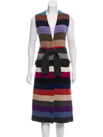 Prada Striped Knit Vest None