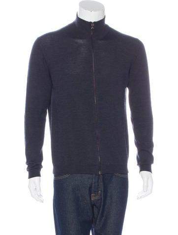 Prada Knit Zip-Up Sweater None