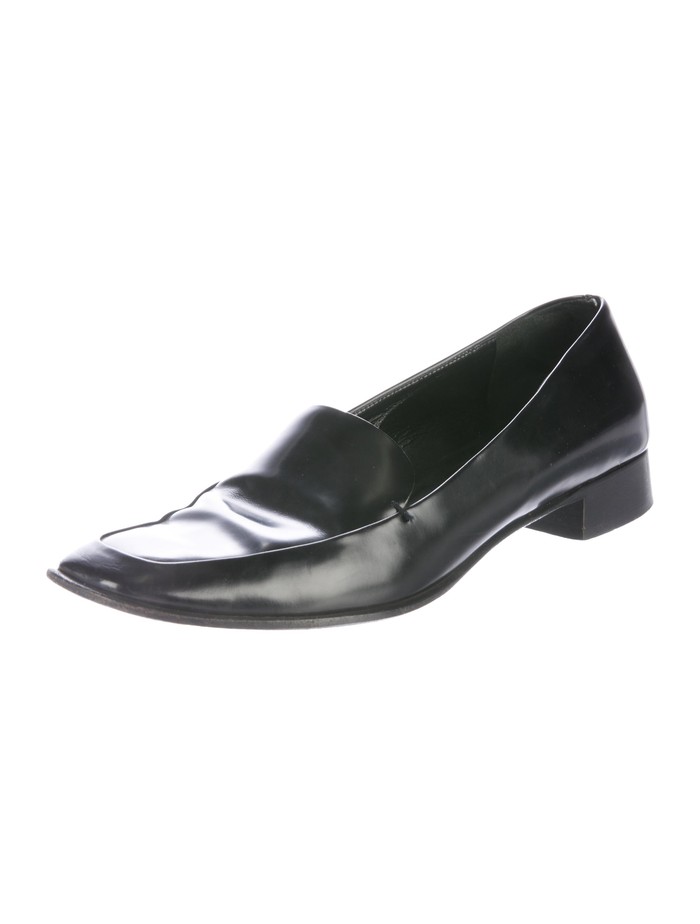 Square Toes Leather Shoes Women