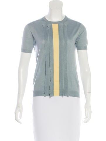 Prada 2016 Wool & Silk Top None
