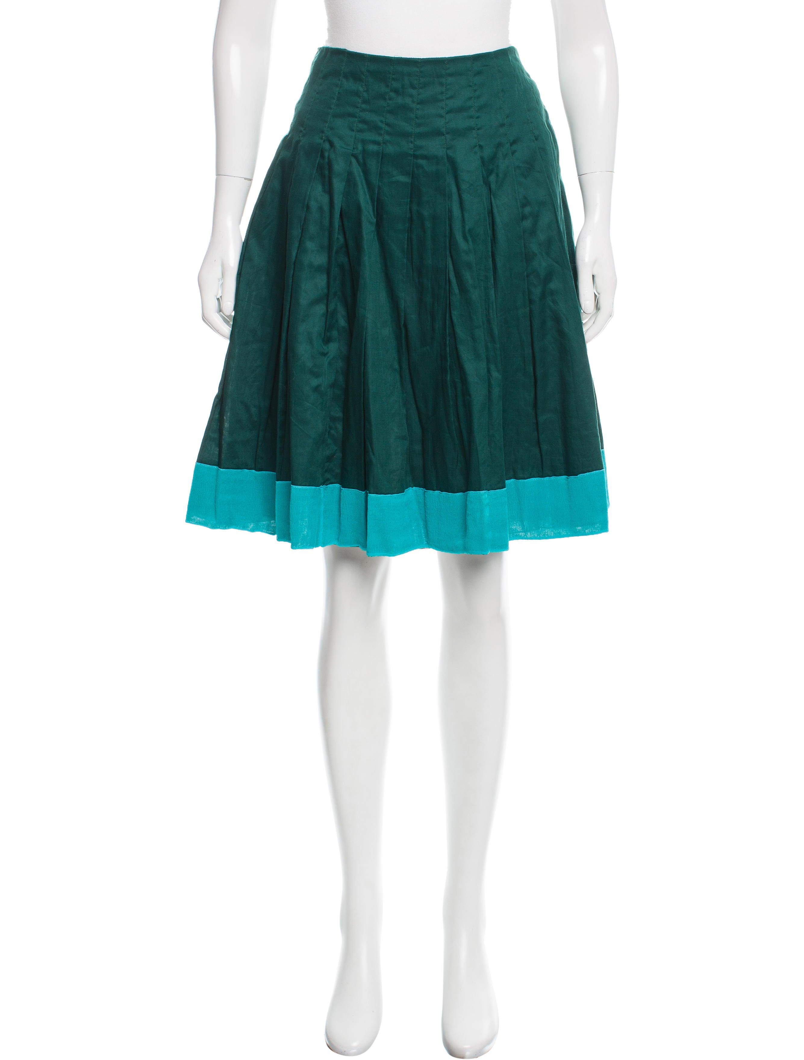 prada pleated knee length skirt w tags clothing