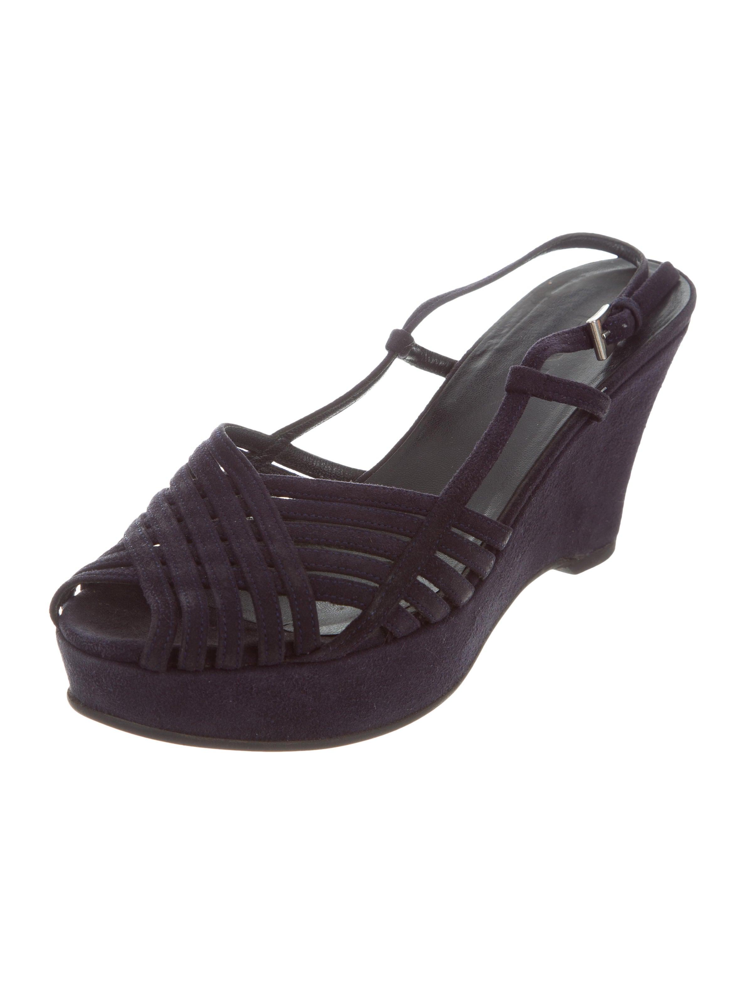 prada suede platform wedge sandals shoes pra154306