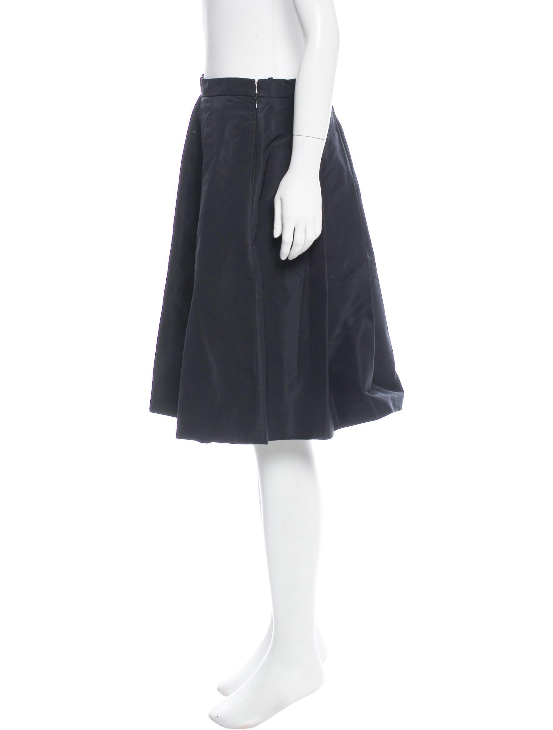 prada silk pleated skirt clothing pra154346 the realreal