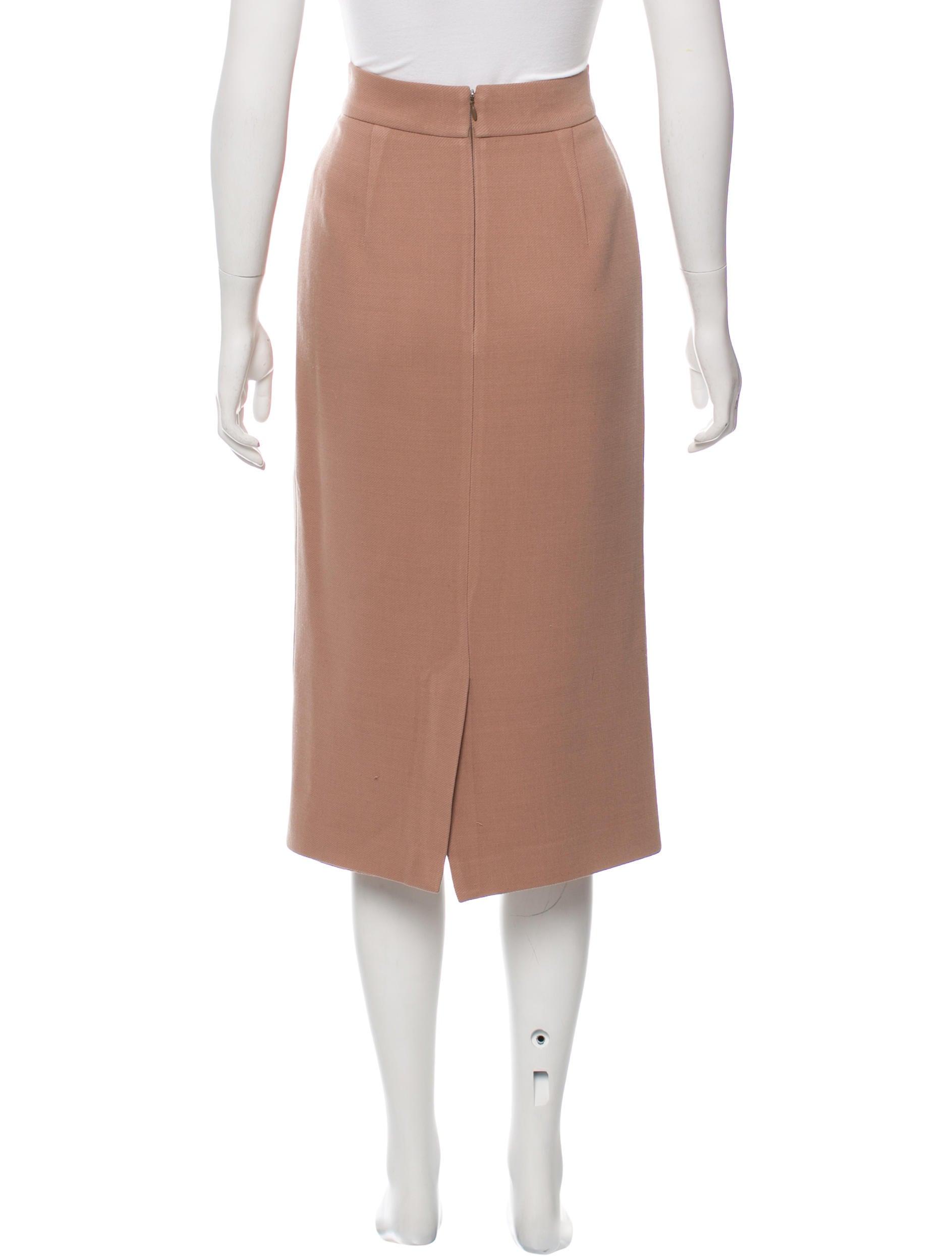 prada wool pencil skirt clothing pra154443 the realreal