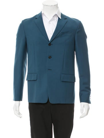 Prada Mohair & Wool-Blend Blazer None