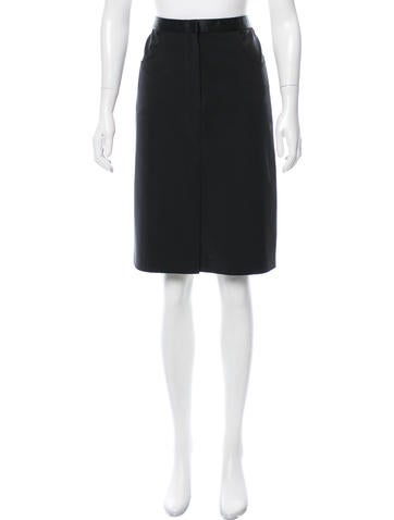 Prada Knee-Length Knit Skirt None