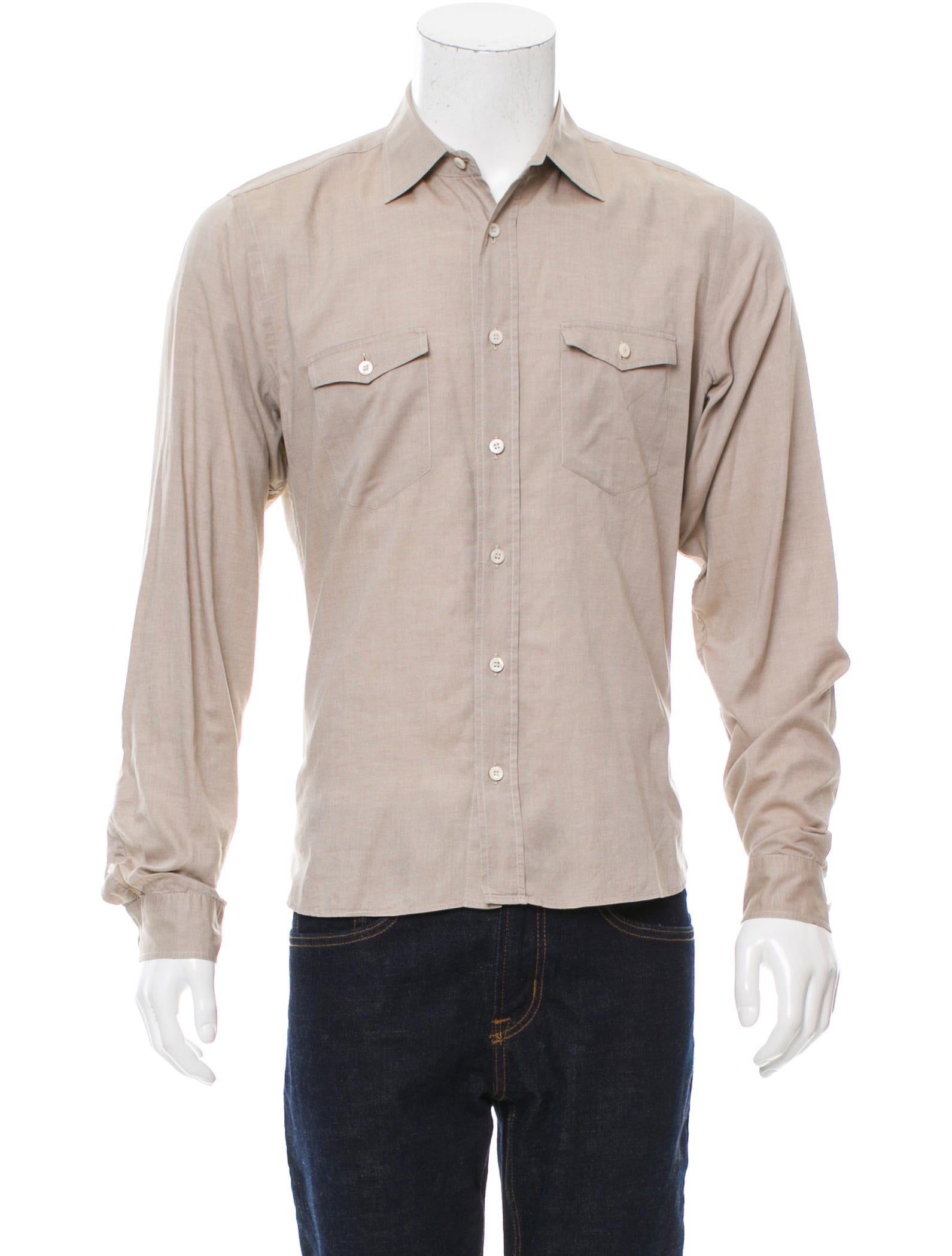 Prada long sleeve button up shirt clothing pra154699 for Cool long sleeve button up shirts