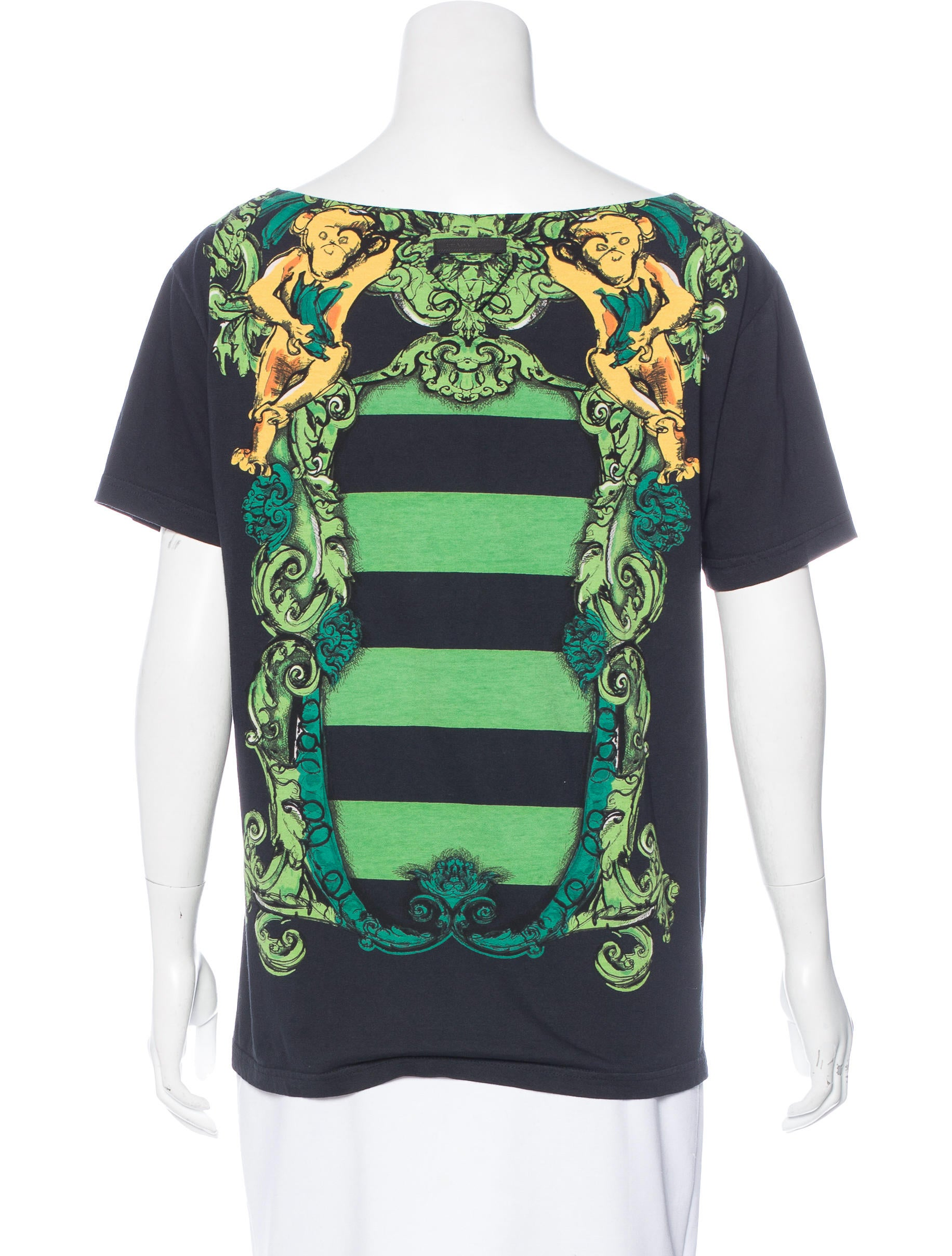 Prada printed short sleeve t shirt clothing pra154858 for Printed short sleeve shirts