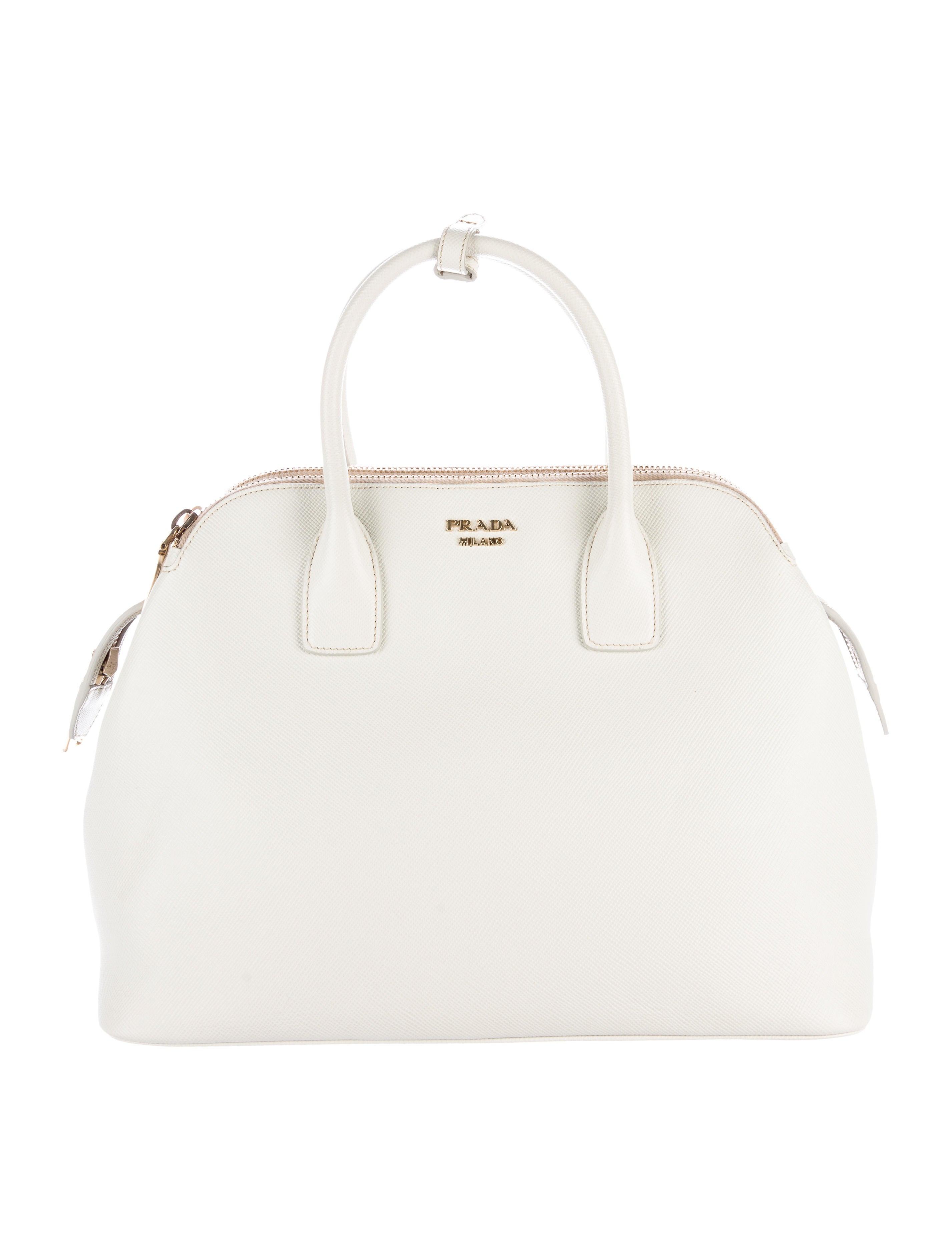 Prada Saffiano Cuir Triple-Zip Dome Tote - Handbags - PRA155290 ... 1a57ac31cf