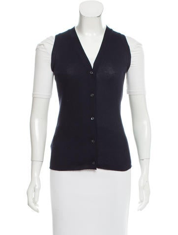 Prada Rib Knit Cardigan Vest None