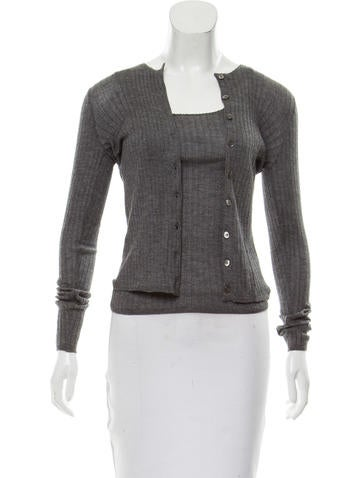 Prada Silk-Cashmere Cardigan Set None