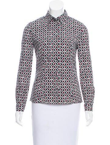 Prada Printed Button-Up Top None