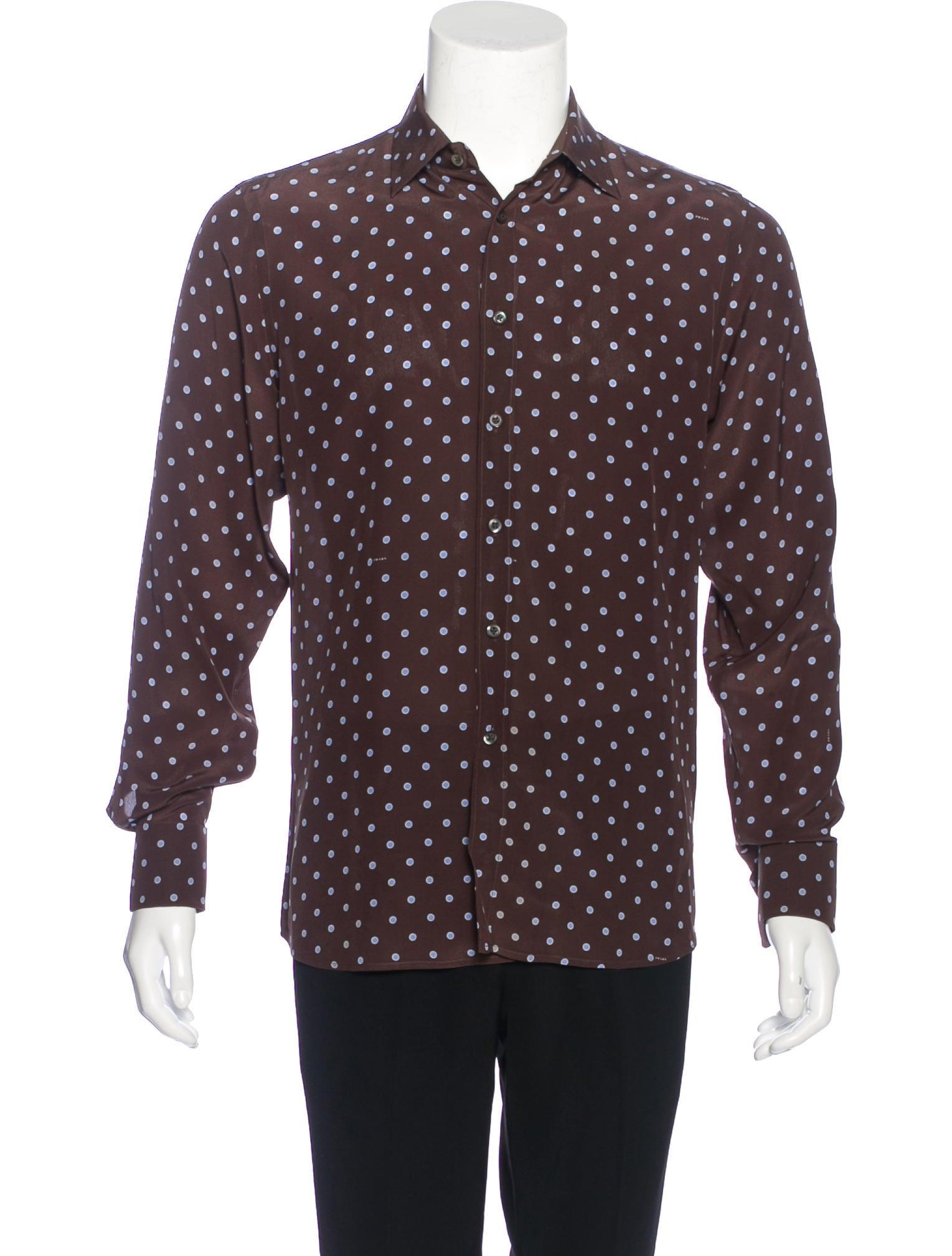 Prada silk french cuff shirt clothing pra155897 the for French cuff dress shirts for sale