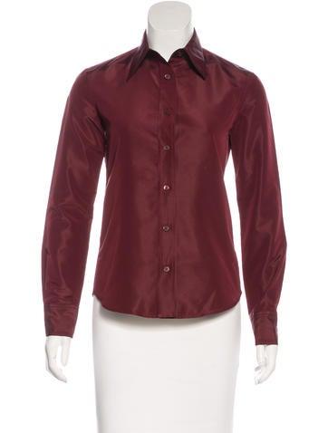 Prada Collared Button-Up Top None