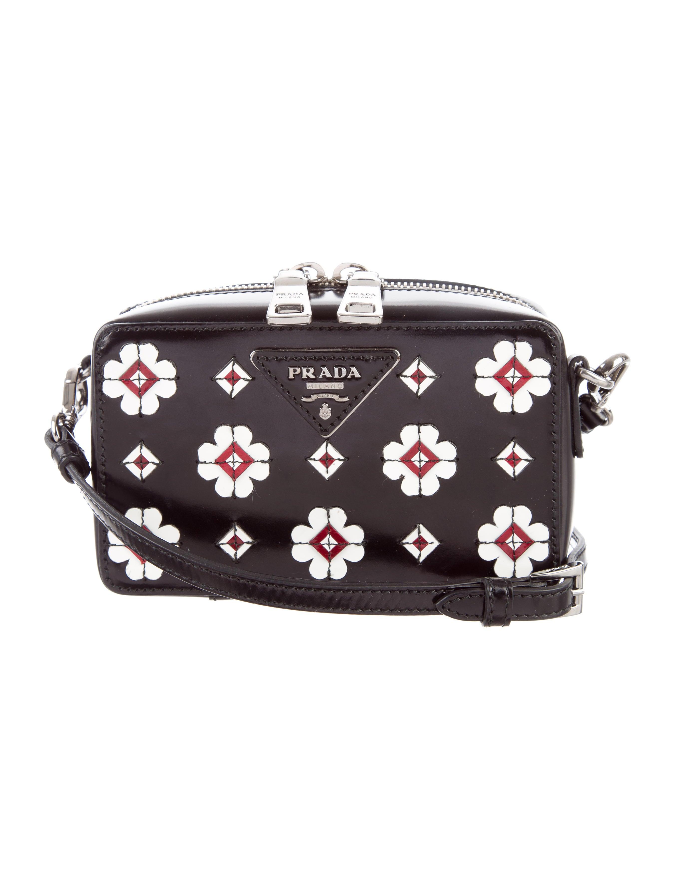 Prada Spazzolato Flowers Camera Bag - Handbags - PRA156478 | The RealReal