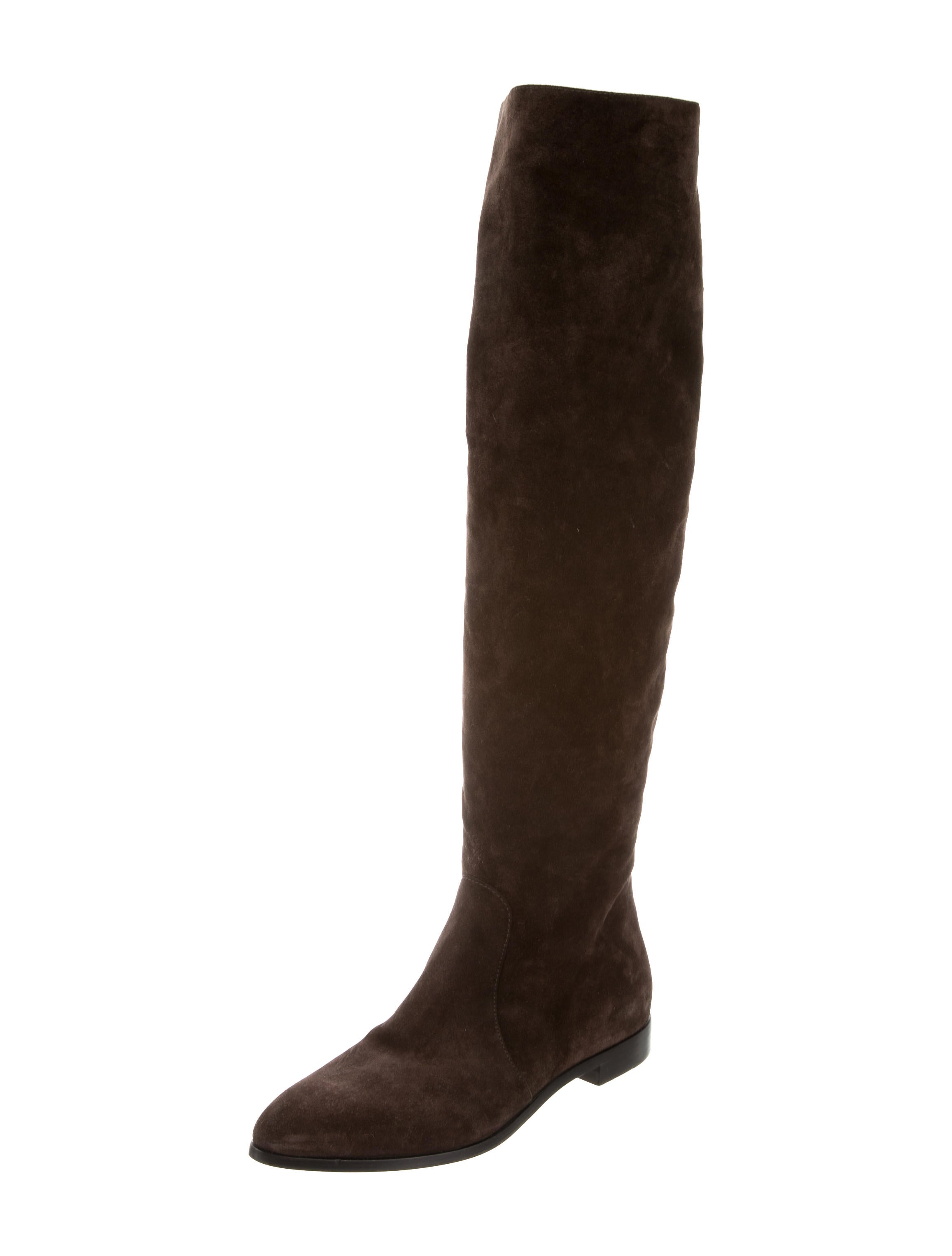 prada suede the knee boots shoes pra156719 the