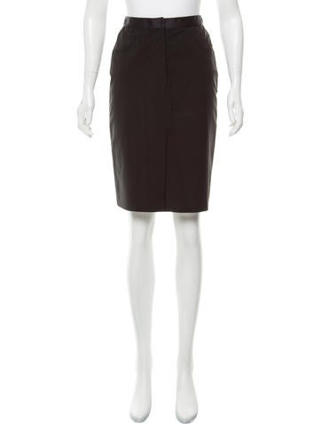 Prada Knit Knee-Length Skirt None