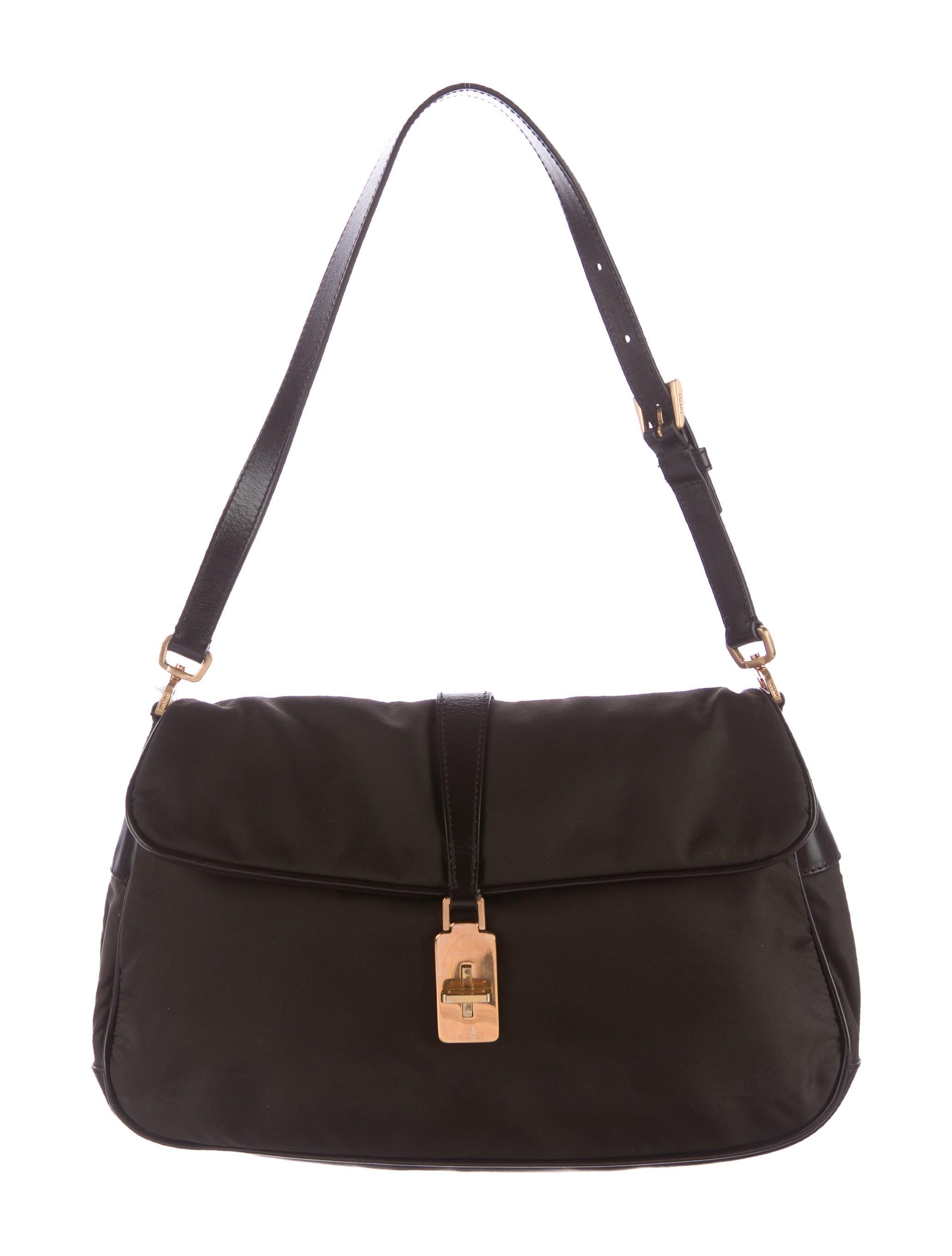 098ee96ab63 Prada Tessuto Flap Shoulder Bag - Handbags - PRA156786 | The RealReal