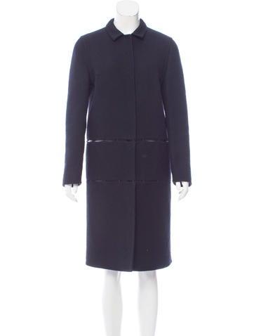 Prada Twill Wool Coat None
