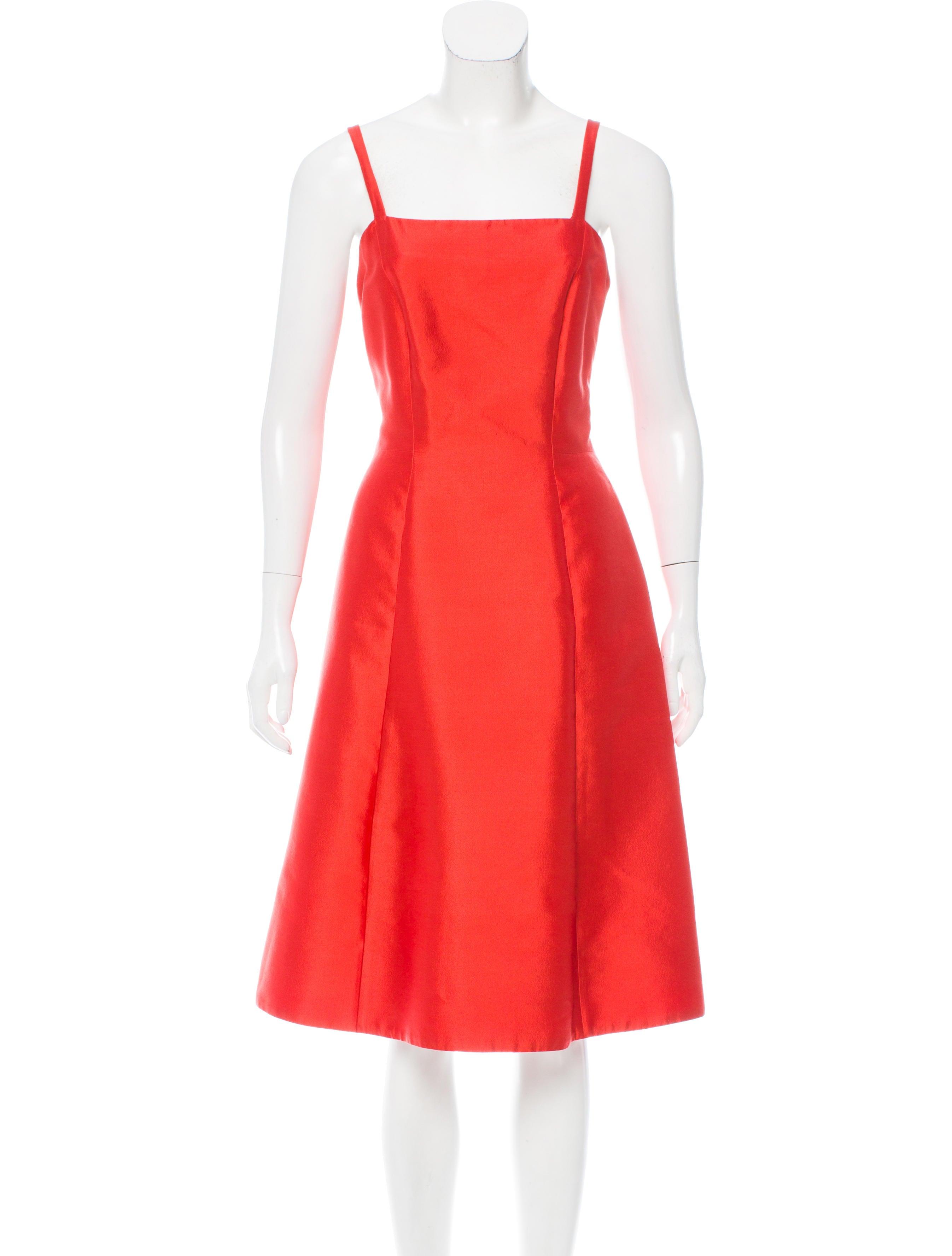 Prada sleeveless midi dress clothing pra156989 the for Sleeveless dress shirt womens