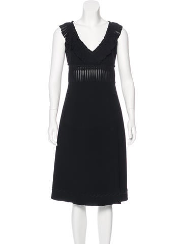 Prada Wool A-Line Dress None