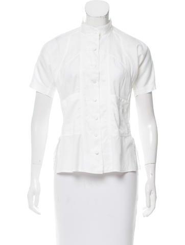 Prada Short Sleeve Button-Up Top None