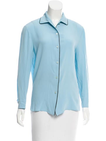 Prada Button-Up Long Sleeve Top None