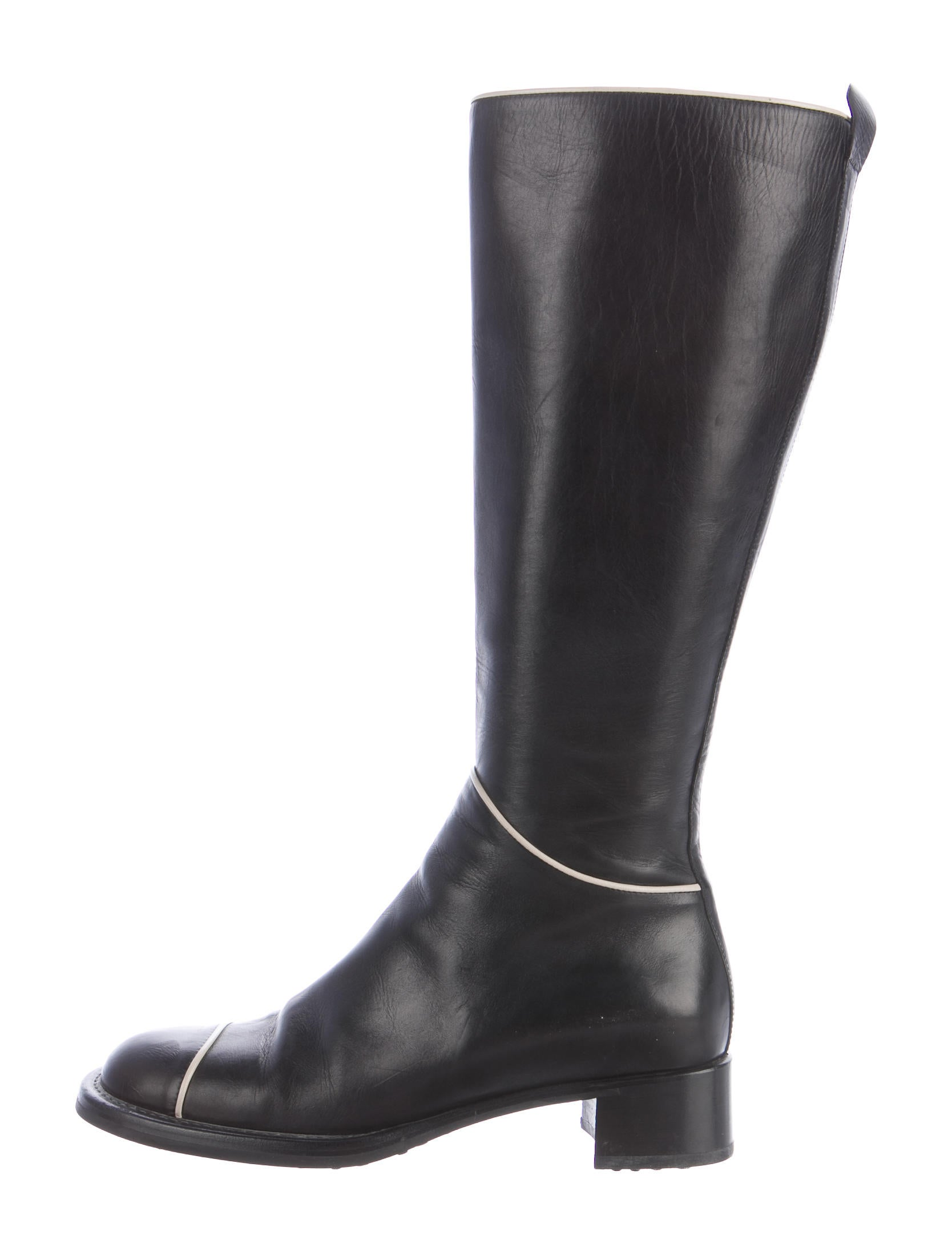 prada leather knee high boots shoes pra157776 the