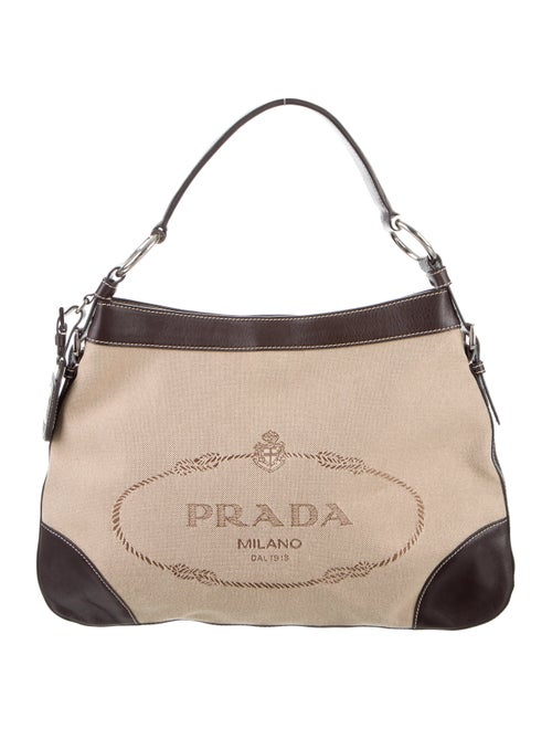 473dcb1fe2 Prada Logo Jacquard Hobo - Handbags - PRA158020