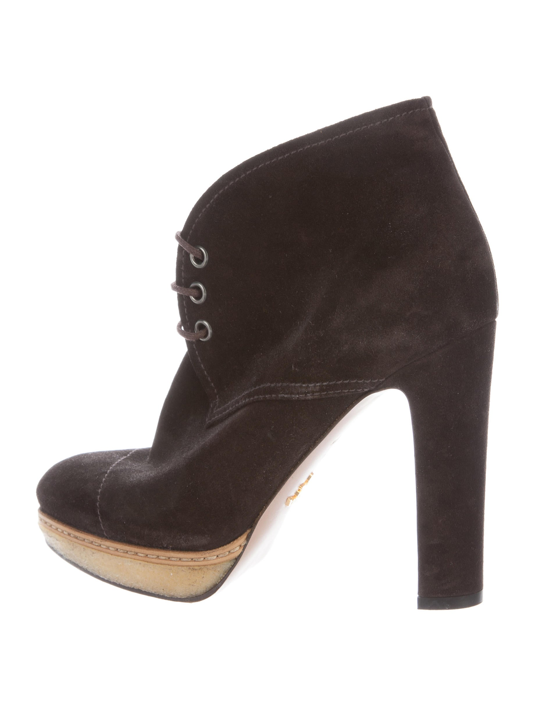 prada suede pointed toe ankle boots shoes pra158375