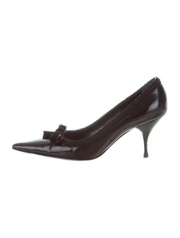 Prada Bow-Accented Leather Pumps clearance 2014 newest 3GRdd